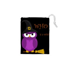 Who is a witch? - purple Drawstring Pouches (XS)