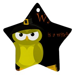 Who is a witch? - yellow Ornament (Star)