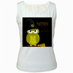 Who is a witch? - yellow Women s White Tank Top
