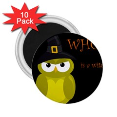 Who is a witch? - yellow 2.25  Magnets (10 pack)