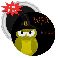 Who is a witch? - yellow 3  Magnets (100 pack)