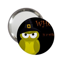 Who is a witch? - yellow 2.25  Handbag Mirrors