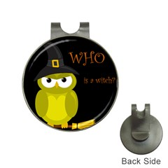 Who is a witch? - yellow Hat Clips with Golf Markers
