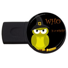 Who is a witch? - yellow USB Flash Drive Round (4 GB)