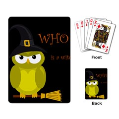 Who is a witch? - yellow Playing Card