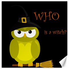 Who is a witch? - yellow Canvas 12  x 12