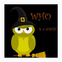 Who is a witch? - yellow Medium Glasses Cloth (2-Side)