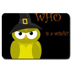 Who is a witch? - yellow Large Doormat