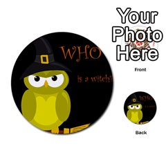 Who is a witch? - yellow Multi-purpose Cards (Round)