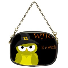 Who is a witch? - yellow Chain Purses (Two Sides)