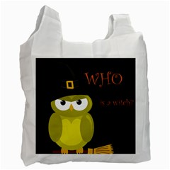 Who is a witch? - yellow Recycle Bag (One Side)