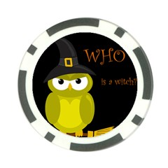 Who is a witch? - yellow Poker Chip Card Guards (10 pack)