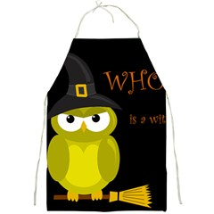 Who is a witch? - yellow Full Print Aprons