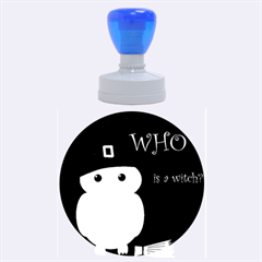 Who Is A Witch?   Yellow Rubber Round Stamps (large)