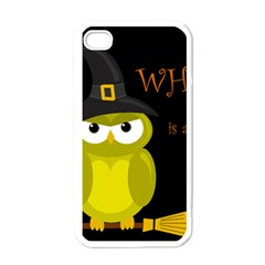 Who is a witch? - yellow Apple iPhone 4 Case (White)