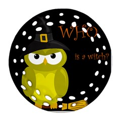 Who is a witch? - yellow Round Filigree Ornament (2Side)