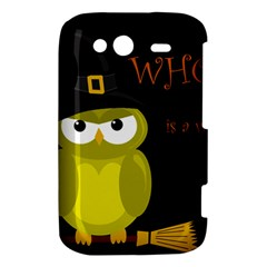 Who is a witch? - yellow HTC Wildfire S A510e Hardshell Case