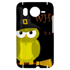Who is a witch? - yellow HTC Desire HD Hardshell Case