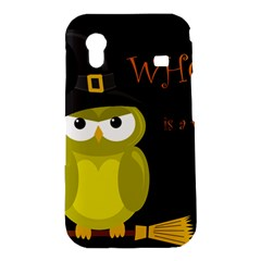 Who is a witch? - yellow Samsung Galaxy Ace S5830 Hardshell Case