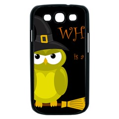 Who is a witch? - yellow Samsung Galaxy S III Case (Black)