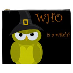 Who is a witch? - yellow Cosmetic Bag (XXXL)