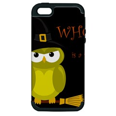 Who is a witch? - yellow Apple iPhone 5 Hardshell Case (PC+Silicone)
