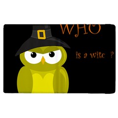 Who is a witch? - yellow Apple iPad 2 Flip Case