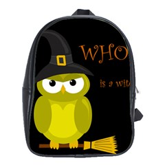 Who is a witch? - yellow School Bags (XL)