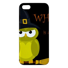Who is a witch? - yellow Apple iPhone 5 Premium Hardshell Case