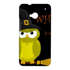 Who is a witch? - yellow HTC One M7 Hardshell Case