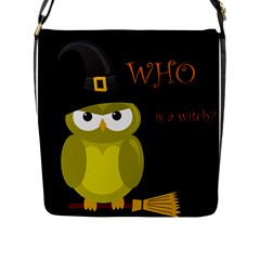 Who is a witch? - yellow Flap Messenger Bag (L)