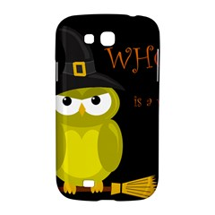 Who is a witch? - yellow Samsung Galaxy Grand GT-I9128 Hardshell Case