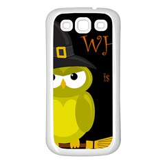 Who is a witch? - yellow Samsung Galaxy S3 Back Case (White)