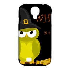 Who is a witch? - yellow Samsung Galaxy S4 Classic Hardshell Case (PC+Silicone)