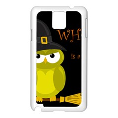 Who Is A Witch?   Yellow Samsung Galaxy Note 3 N9005 Case (white)