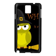 Who is a witch? - yellow Samsung Galaxy Note 3 N9005 Case (Black)