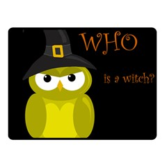 Who is a witch? - yellow Double Sided Fleece Blanket (Small)