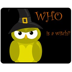 Who is a witch? - yellow Double Sided Fleece Blanket (Medium)