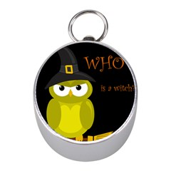 Who is a witch? - yellow Mini Silver Compasses