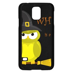 Who is a witch? - yellow Samsung Galaxy S5 Case (Black)