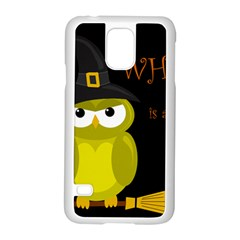 Who is a witch? - yellow Samsung Galaxy S5 Case (White)