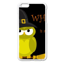 Who is a witch? - yellow Apple iPhone 6 Plus/6S Plus Enamel White Case