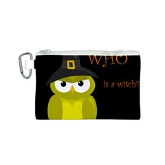 Who is a witch? - yellow Canvas Cosmetic Bag (S)