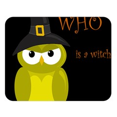 Who is a witch? - yellow Double Sided Flano Blanket (Large)