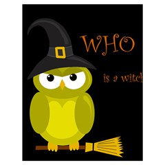 Who is a witch? - yellow Drawstring Bag (Large)