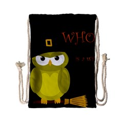 Who is a witch? - yellow Drawstring Bag (Small)