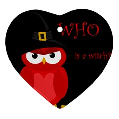 Who is a witch? - red Ornament (Heart)