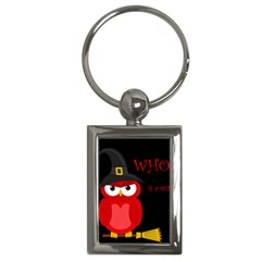 Who is a witch? - red Key Chains (Rectangle)