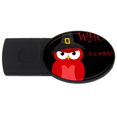 Who is a witch? - red USB Flash Drive Oval (1 GB)