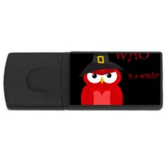 Who is a witch? - red USB Flash Drive Rectangular (1 GB)